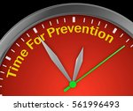 time for prevention concept... | Shutterstock . vector #561996493