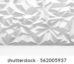abstract white polygon pattern... | Shutterstock . vector #562005937