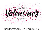 happy valentines day... | Shutterstock .eps vector #562009117