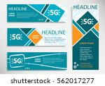 5g sign icon on horizontal and... | Shutterstock .eps vector #562017277