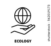 ecology icon or logo in modern... | Shutterstock .eps vector #562019173