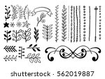 doodle line border set. vector... | Shutterstock .eps vector #562019887