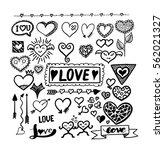 set of design love object... | Shutterstock .eps vector #562021327