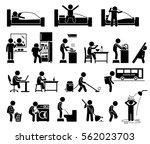 children helping in household... | Shutterstock . vector #562023703