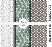 vector pattern background set... | Shutterstock .eps vector #562027003