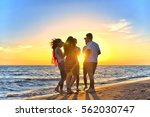 group of happy young people... | Shutterstock . vector #562030747