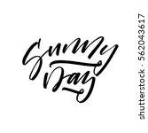 sunny day postcard. phrase for...   Shutterstock .eps vector #562043617