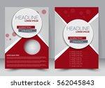 brochure template. business... | Shutterstock .eps vector #562045843