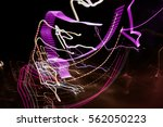 colorful lights of motion... | Shutterstock . vector #562050223