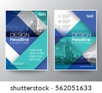 blue and teal diagonal line... | Shutterstock .eps vector #562051633