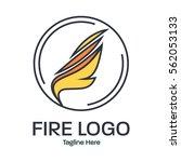 fire logo design concept | Shutterstock .eps vector #562053133