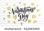 luxury gold valentine day text...   Shutterstock .eps vector #562065403