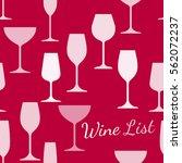 restaurant or wine bar menu...   Shutterstock .eps vector #562072237