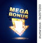 mega bonus retro banner.... | Shutterstock .eps vector #562073203