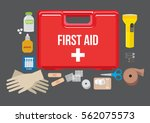first aid kit   Shutterstock .eps vector #562075573