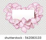 pink rose petals in heart shape ...   Shutterstock .eps vector #562083133