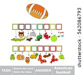 educational rebus game for... | Shutterstock .eps vector #562086793