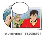 stock illustration. people in... | Shutterstock .eps vector #562086937