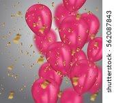 vector illustration holiday... | Shutterstock .eps vector #562087843