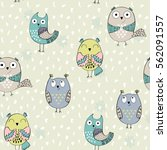 vector seamless pattern with... | Shutterstock .eps vector #562091557