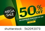stylish sale banner design with ... | Shutterstock .eps vector #562092073