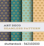 art deco seamless pattern with... | Shutterstock .eps vector #562102033