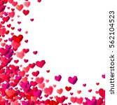 valentines day background with... | Shutterstock . vector #562104523