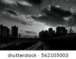 cityscapes with sunset | Shutterstock . vector #562105003
