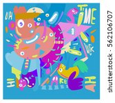 vector illustration hipster... | Shutterstock .eps vector #562106707