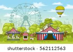 illustration of an amusement... | Shutterstock .eps vector #562112563
