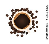 coffee banner. coffee time. cup ... | Shutterstock .eps vector #562115323