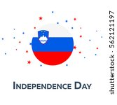 independence day of slovenia.... | Shutterstock .eps vector #562121197