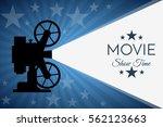 cinema background or banner.... | Shutterstock .eps vector #562123663