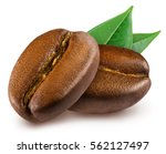 two shiny fresh roasted coffee... | Shutterstock . vector #562127497