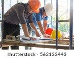 construction concepts  engineer ... | Shutterstock . vector #562133443