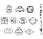 black art deco vector badges... | Shutterstock .eps vector #562133797
