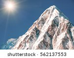 snowy mountains peaks. nepal... | Shutterstock . vector #562137553