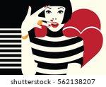 fashion woman in style pop art. ... | Shutterstock .eps vector #562138207