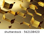 abstract background of gold... | Shutterstock . vector #562138423