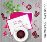 happy valentine's day post card.... | Shutterstock .eps vector #562142077