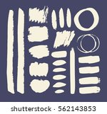 set of hand drawn paint object... | Shutterstock .eps vector #562143853