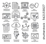 business management icons in... | Shutterstock . vector #562153027