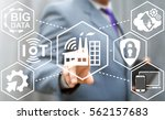 industry 4.0 iot integration... | Shutterstock . vector #562157683