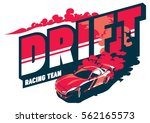 burnout car  japanese drift... | Shutterstock .eps vector #562165573