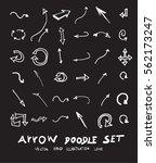 vector hand drawn arrows set... | Shutterstock .eps vector #562173247