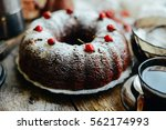 Sliced Chocolate Pie With Mint...