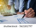 business teamwork process ... | Shutterstock . vector #562181797
