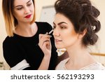 beauty salon  the girl dklayut... | Shutterstock . vector #562193293