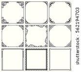 decorative frames  set 47  | Shutterstock .eps vector #562194703