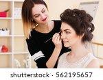 beauty salon  the girl dklayut... | Shutterstock . vector #562195657
